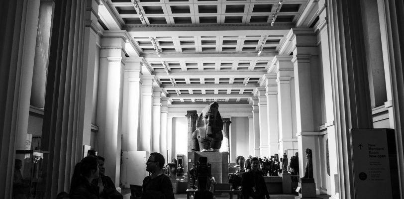 Overview of the Egyptian sculpture gallery at the British Museum