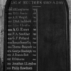 A second, identical wooden panel with a list of rectors from 1904. It's currently less than half completed