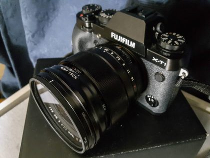 The lens discussed on this page attached to a camera body
