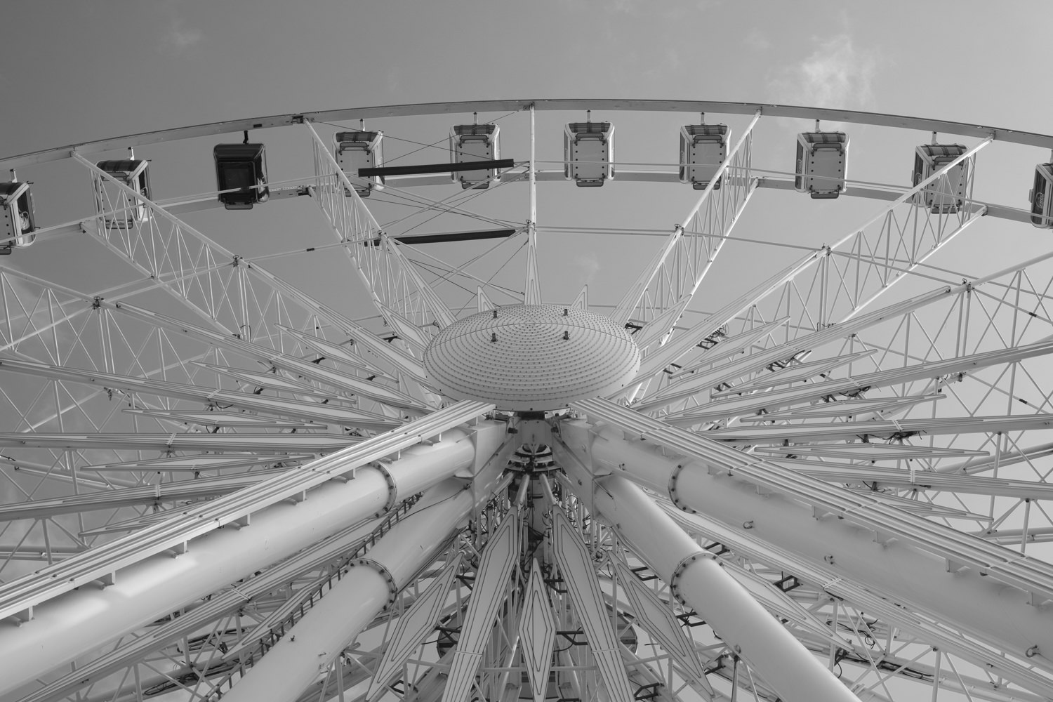 Looking up at the Liverpool Eye from the base.