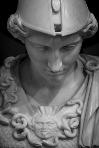 marble bust of athena