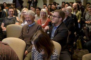 the audience at a seminar