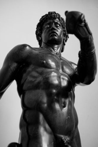 stone statue of a nubian athlete, lady lever art gallery